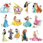 Who the most loved Disney princess out of the princesses below?
