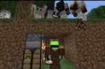 """In: """"Minecraft Speedrunner VS 4 Hunters FINAL!"""" What cool trick did Dream do?"""
