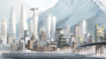 What city did Aang help make with the help of his team?